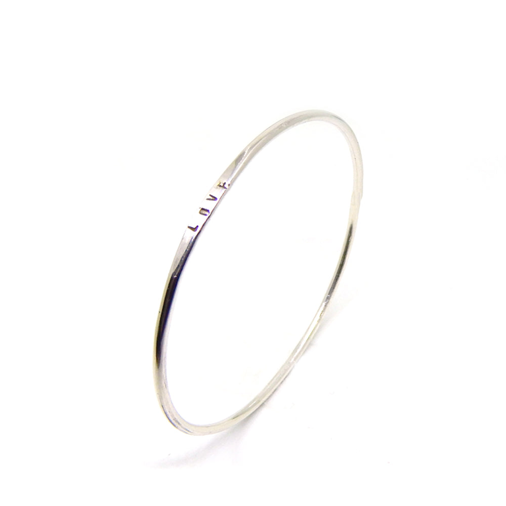 Text bracelet | The silver bangle
