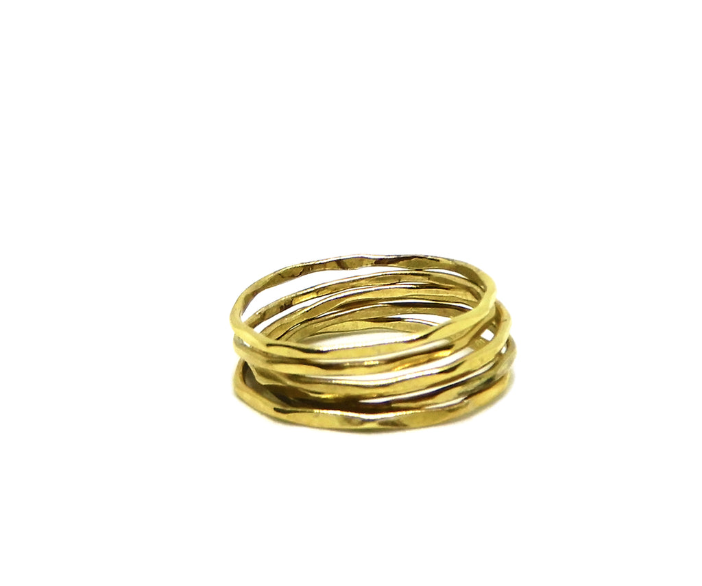 Ring | The facet brass