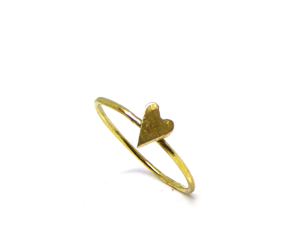 Ring | The tiny heart brass