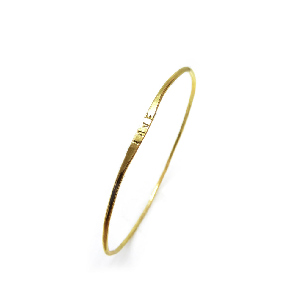 Text bracelet | The brass bangle