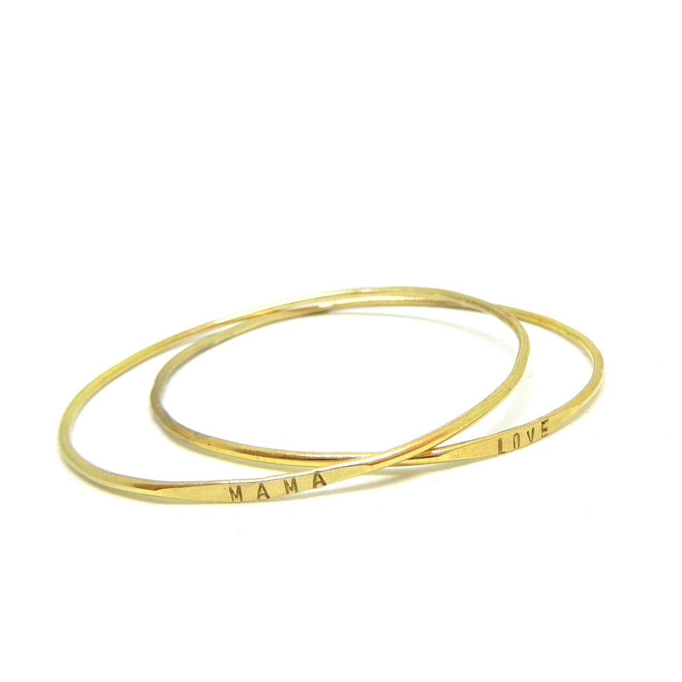 Text bracelet | The brass mama bangle