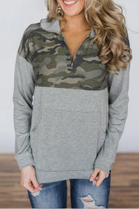 AmourFab Try My Best Camouflage Patchwork Hoodies