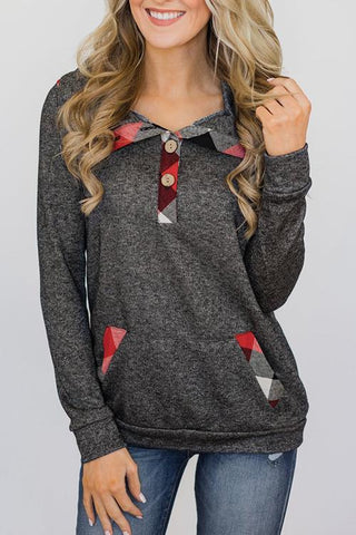 AmourFab Floral Patchwork Grey  Hoodies