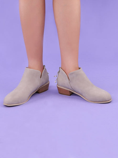23c22d10e ... Plus Size Chunky Heel Short Boots Female Non-slip Cute Booties