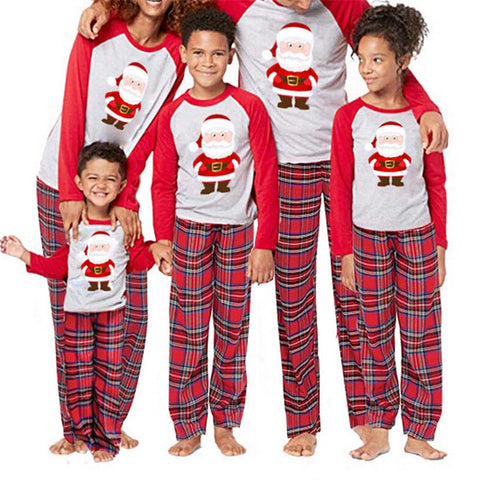 de8210872c Family Pajamas Plaid Print Christmas Nightwear Cartoon Bear Outfits ...