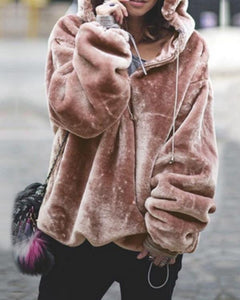 AmourFab Hooded Jumper Sweater Pullover Tops Coat