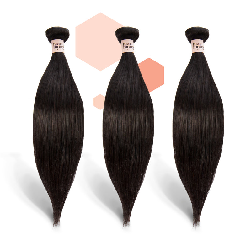 Brazilian Straight Three-Piece Bundle