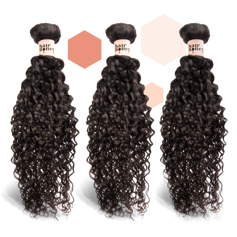 Brazilian Curly Three-Piece Bundle
