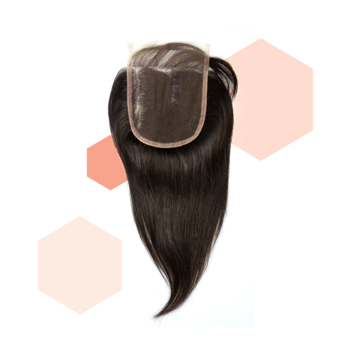 Three-part Straight Brazilian Lace Closure
