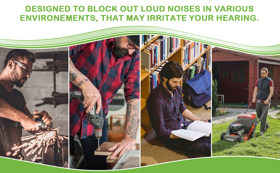 Designed to block out loud noises in different environments