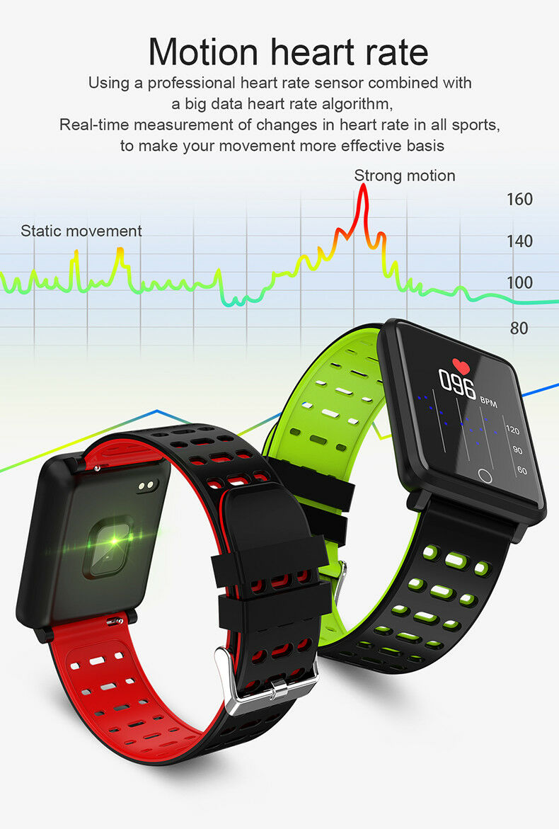 smart watch with motion heart rate monitor