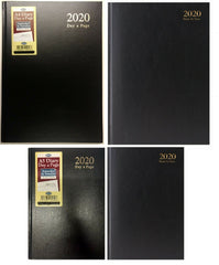 2020 Hardback Diary Casebound Black cover - A4/A5