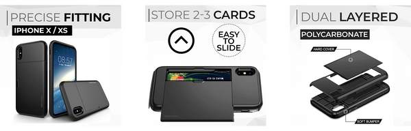 precise fitting, store 2 cards, dual protection