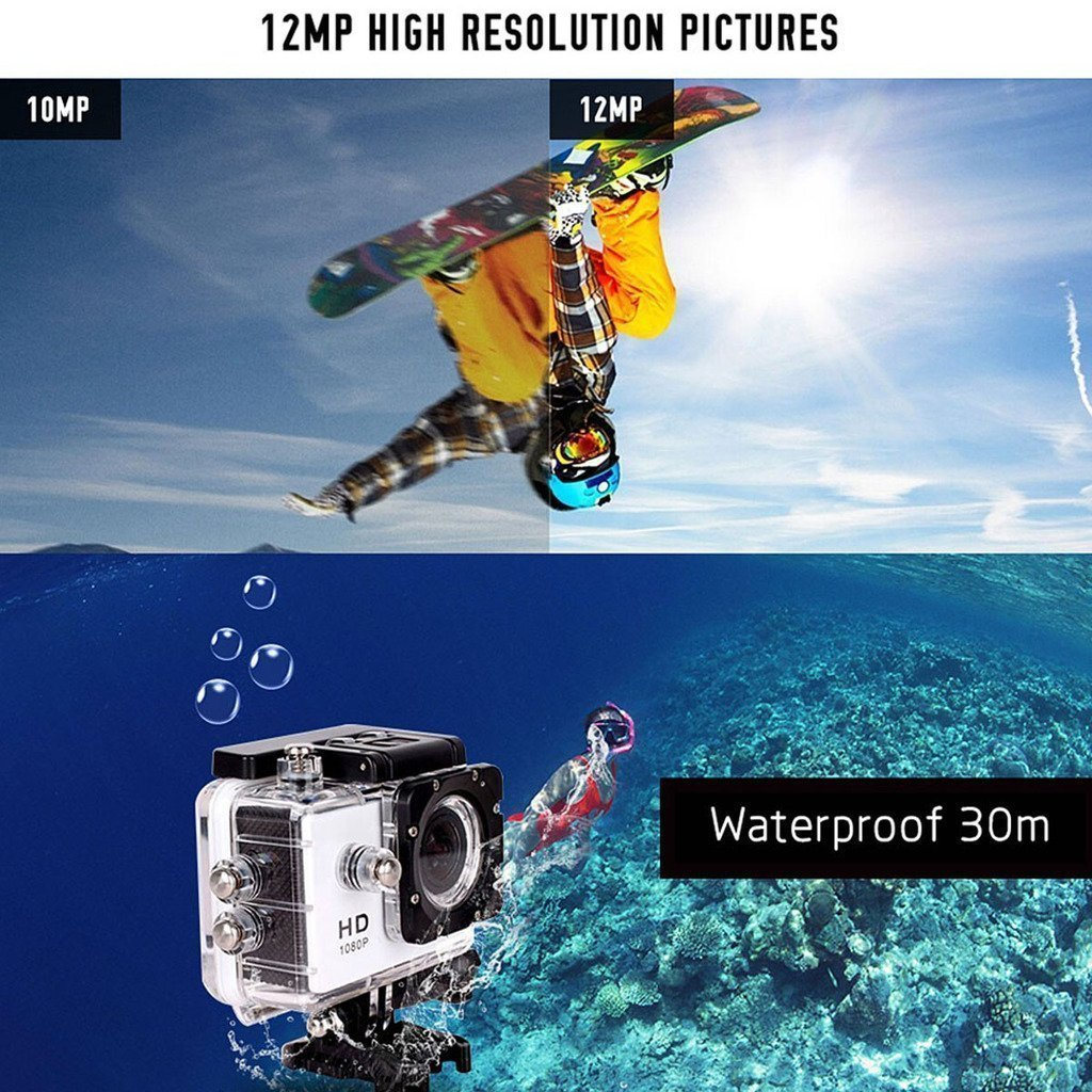 Sports Action Camera 1080p Full HD 12 MP Waterproof Camera with Wifi