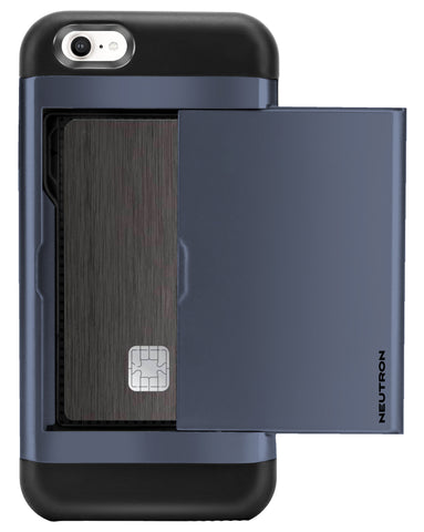 Image of Neutron iPhone 5/5S/SE Shockproof Case with Card Holder - Protective Credit Card Wallet Slot