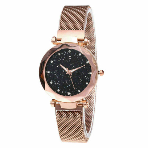 Image of Elegant Crystal Sky Watch with Magnetic Strap for Women