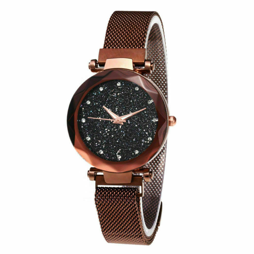 Elegant Crystal Sky Watch with Magnetic Strap for Women