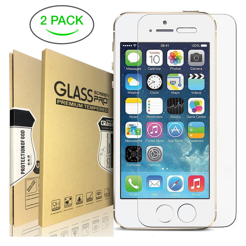 Image of Tempered Glass Screen Protector for iPhone 6/7/8/X Plus - 2 Pack