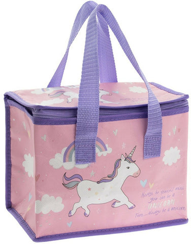 Image of Kids / Childrens Unicorn Insulated Lunch Bags / School Lunch Box