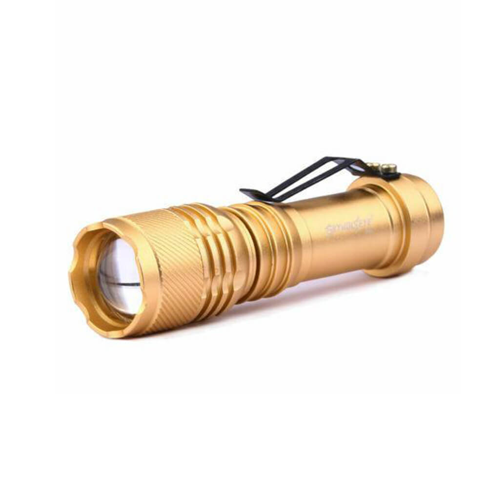 LED Pocket Zoomable Flashlight - Torch Hiking Lamp
