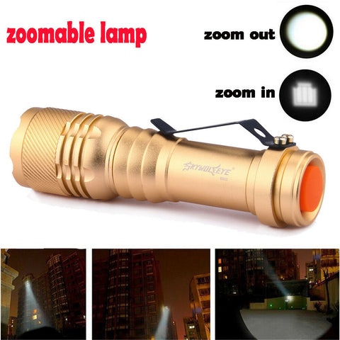 Image of LED Pocket Zoomable Flashlight - Torch Hiking Lamp