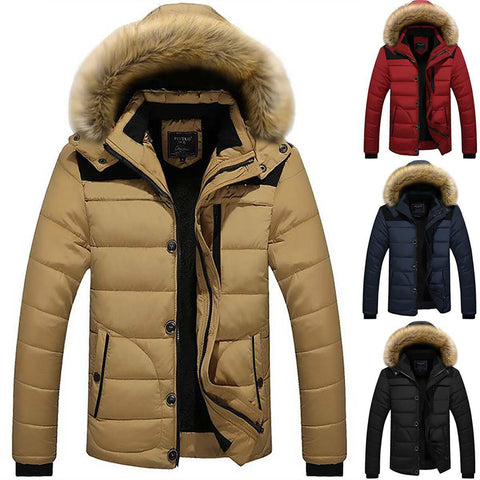 Image of Mens Padded Bubble Coat Hooded Quilted Puffer Warm Winter Jacket