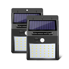Solar Lights Outdoor Garden Motion Sensor Waterproof Wall Security Lights - 2pcs