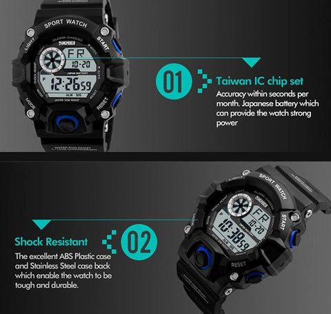 Image of Waterproof Sports Digital Watch