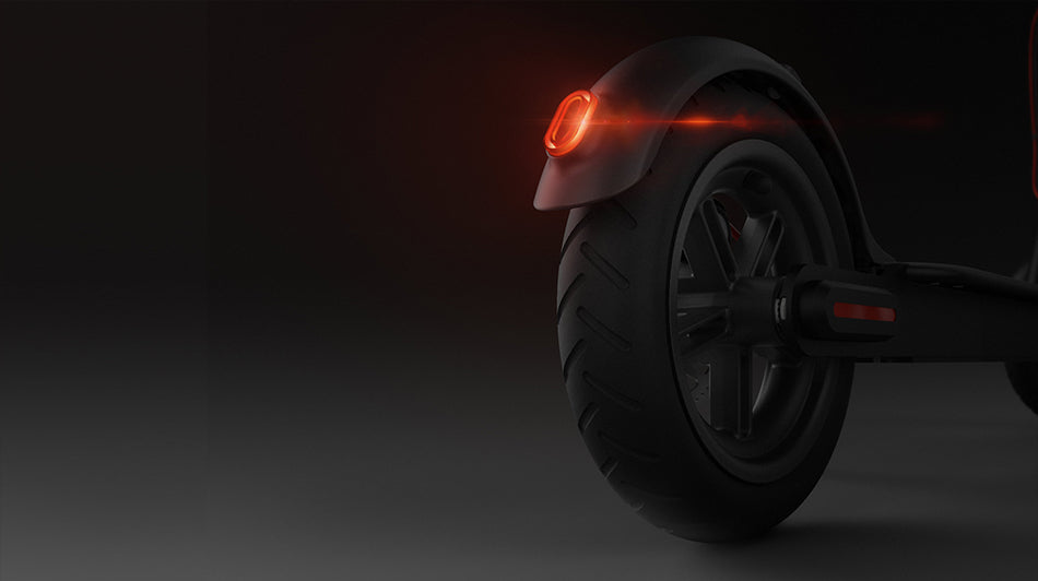 red taillight braking system electric scooter