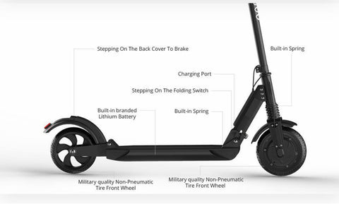Image of Electric Folding Scooter 350W 3 Speed Scooter