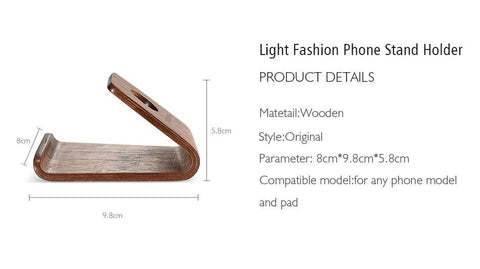 Image of Wooden Phone Stand Holder
