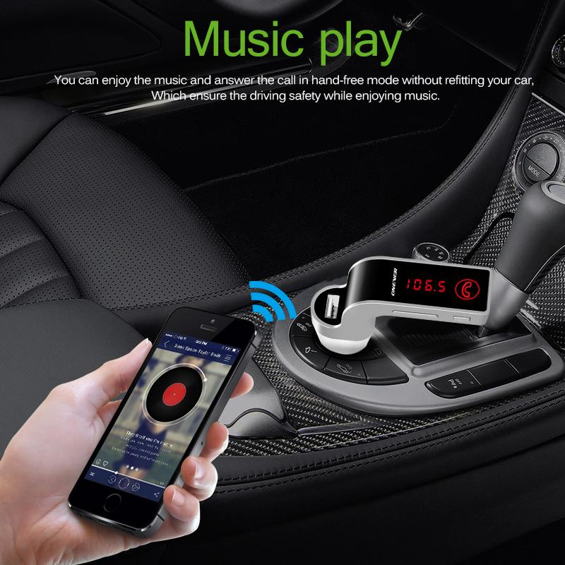 4-in-1 Hands Free Wireless Bluetooth FM Transmitter MP3 Player