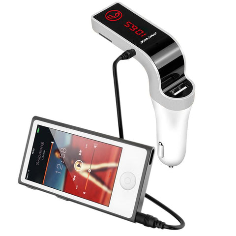 Image of 4-in-1 Hands Free Wireless Bluetooth FM Transmitter MP3 Player