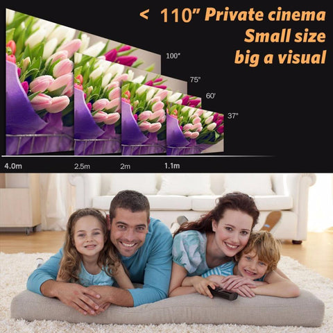 Image of Crenova H80 Full HD Home Theater Cinema LED Projector