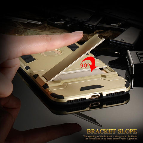 Image of Protective Armor Case with Kick-Stand for iPhone 6/6s/7/7 plus