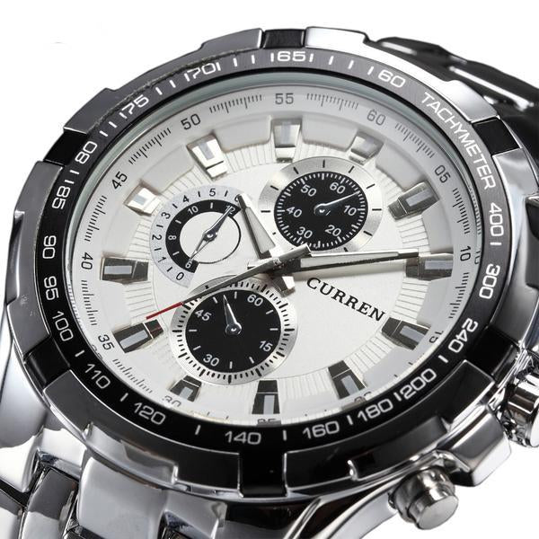 Stainless Steel Military Quartz Watch