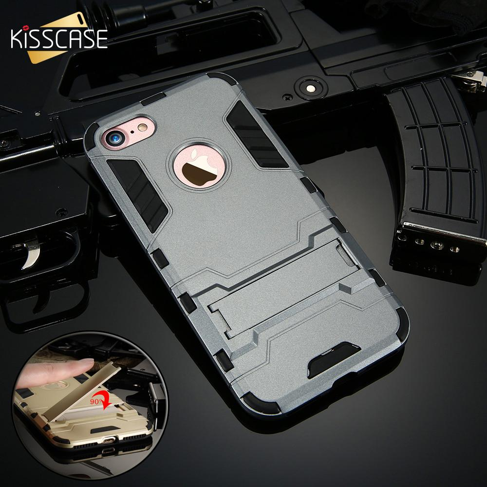 Protective Armor Case with Kick-Stand for iPhone 6/6s/7/7 plus