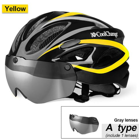 Image of CoolChange Windproof Lens Bike Helmet