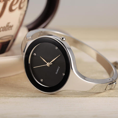 Image of Stainless Steel Bracelet Quartz Wristwatch