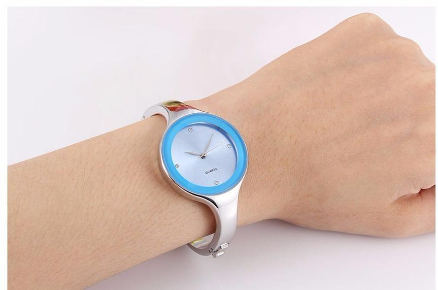 Stainless Steel Bracelet Quartz Wristwatch