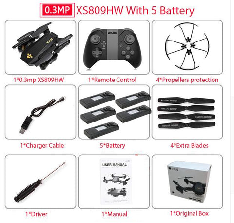 Image of Mini Foldable Quadcopter Drone with Wifi