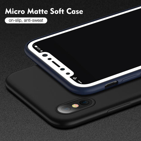 Image of Soft Silicone Matte Case for Apple iPhone 6/7/8/X