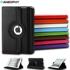 Rotating Leather Flip Stand Case For iPad Mini 1/2/3