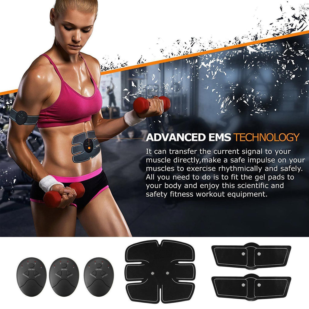 3 in 1 Smart EMS Muscle Toning Fitness Belt Stimulator Kit