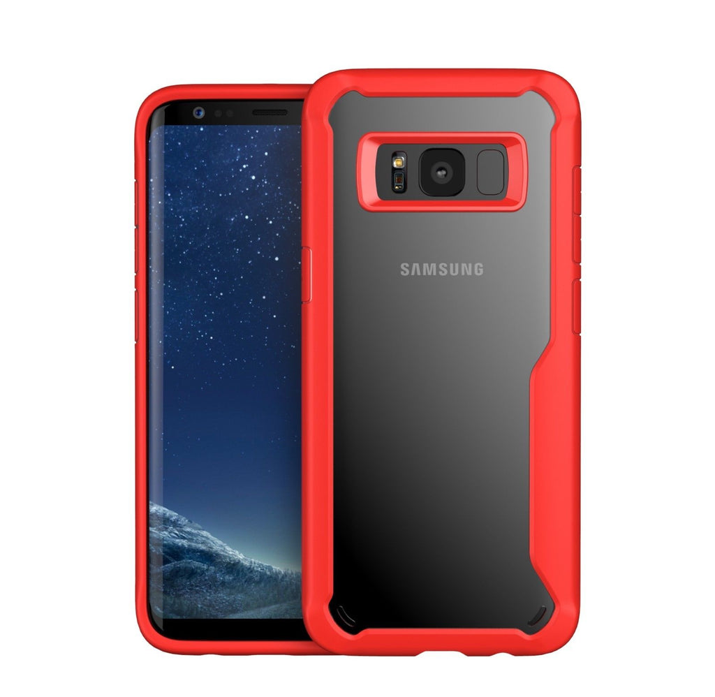 Shockproof Rugged Bumper Clear Case for Samsung Galaxy S8 S9 Plus