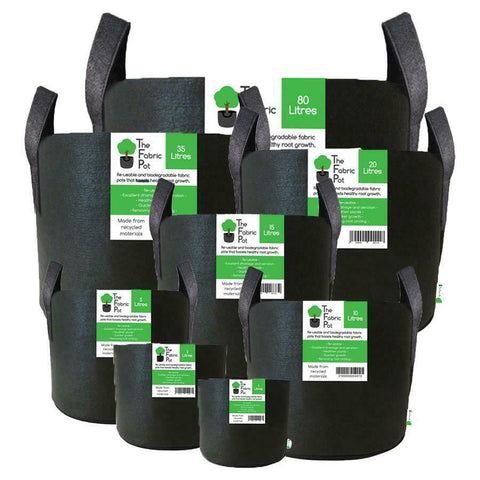 Image of Fabric Root Pots Smart Plant Grow Pot Bags 1 2 10 15 18 20 25 30 40 60 70L Litre
