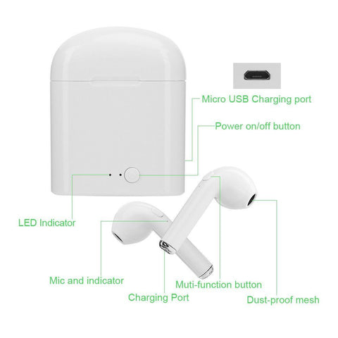 Image of Bluetooth Wireless Earphones / Earbuds For Apple iPhone with Charging Case