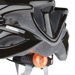 Carbon Fibre Bike Helmet w/ Removable Visor & Led Light
