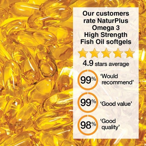 Image of Omega 3 Fish Oil 1000mg - 365 Capsules