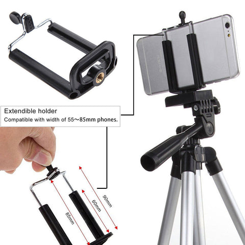 Image of Tripod Stand Mount Holder For iPhone, Digital Camera, Camcorder